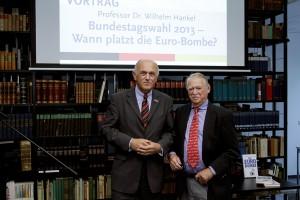 Mit Prof. Wilhelm Hankel, einem der EURO Kläger der ersten Stunde und Unterstützer die AfD